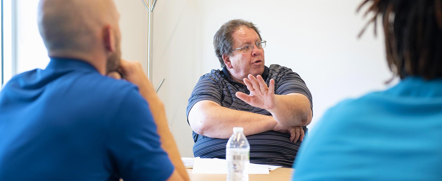 Entrepreneurs participate in Igniteís Ideas 2 Enterprise program led by Max Miller, June 23, 2021 on the campus of Washington & Jefferson College in Washington, Pa.